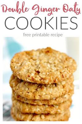 Double Ginger Oat Cookies