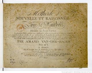 Amand Vanderhagen (1753-1822) - Méthode nouvelle et raisonnée pour le hautbois divisée en 2 parties.