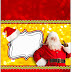 Santa in Red and Gold: Free Printable Candy Bar Labels.