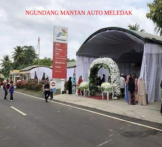 Gelar Pesta Pernikahan di SPBU, Pertamina Berikan Ini Pada Pemilik SPBU