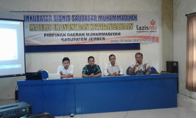 MEK PDM Jember Kenalkan Inkubator Bisnis Saudagar Muhammadiyah