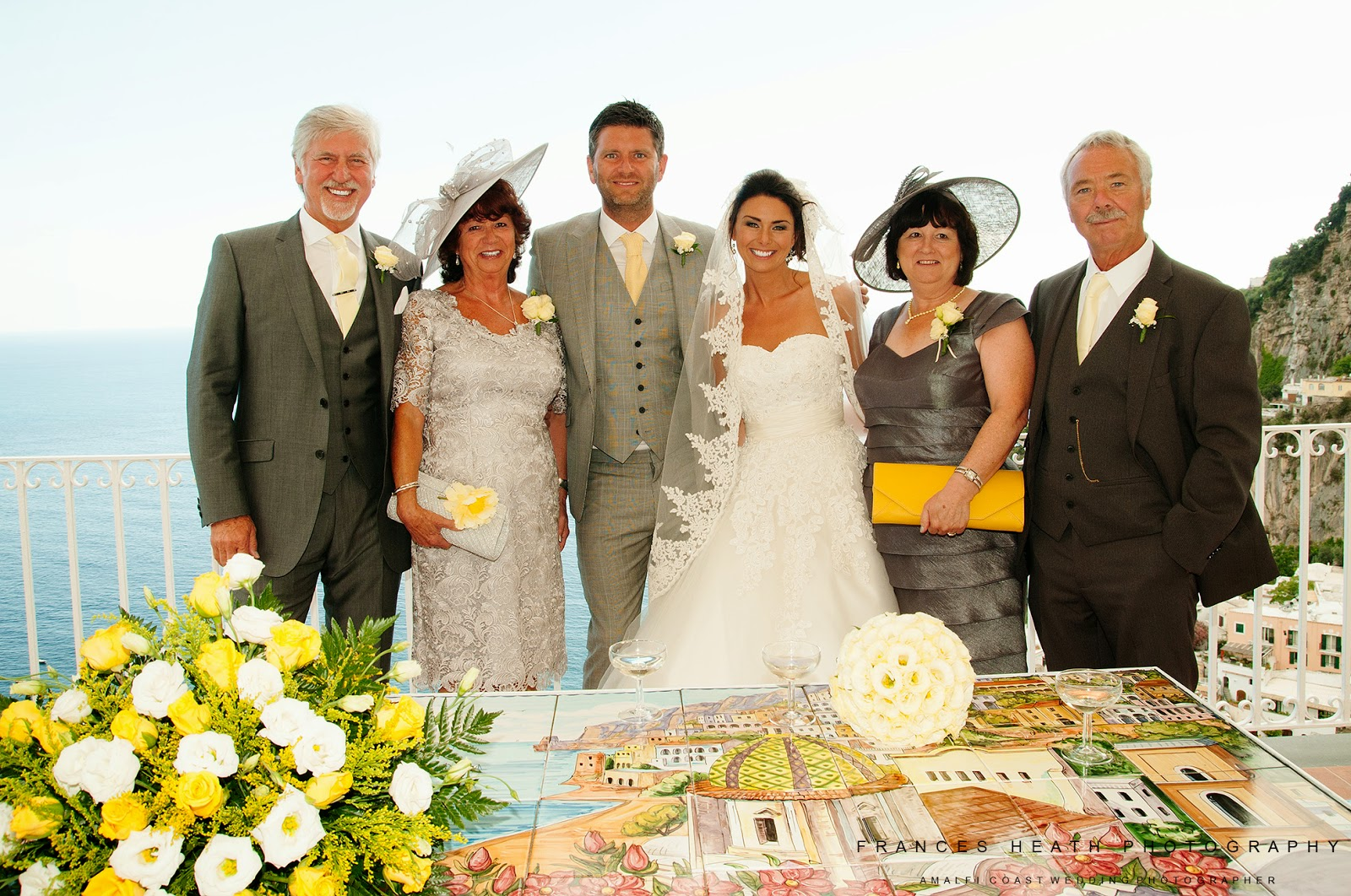 Family portrait at Positano town hall