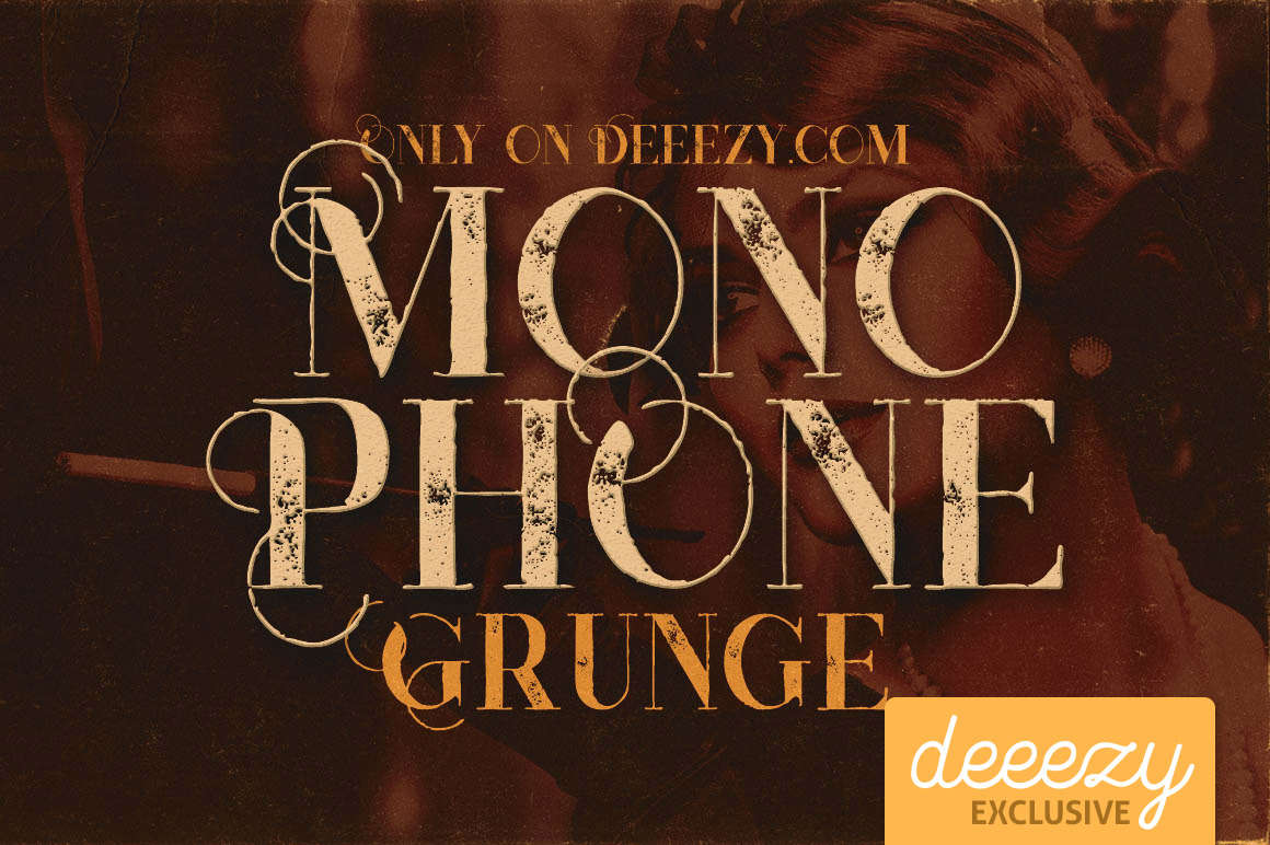 Download Font Terbaru 2016 - Monophone Grunge Font