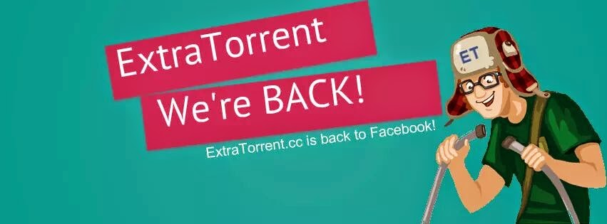 Extratorrent Facebook, fan Page, we are back