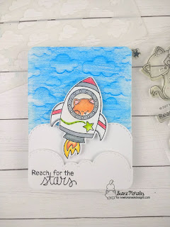 Cosmic Newton a card by Diane Morales | Cosmic Newton Stamp Set by Newton's Nook Designs