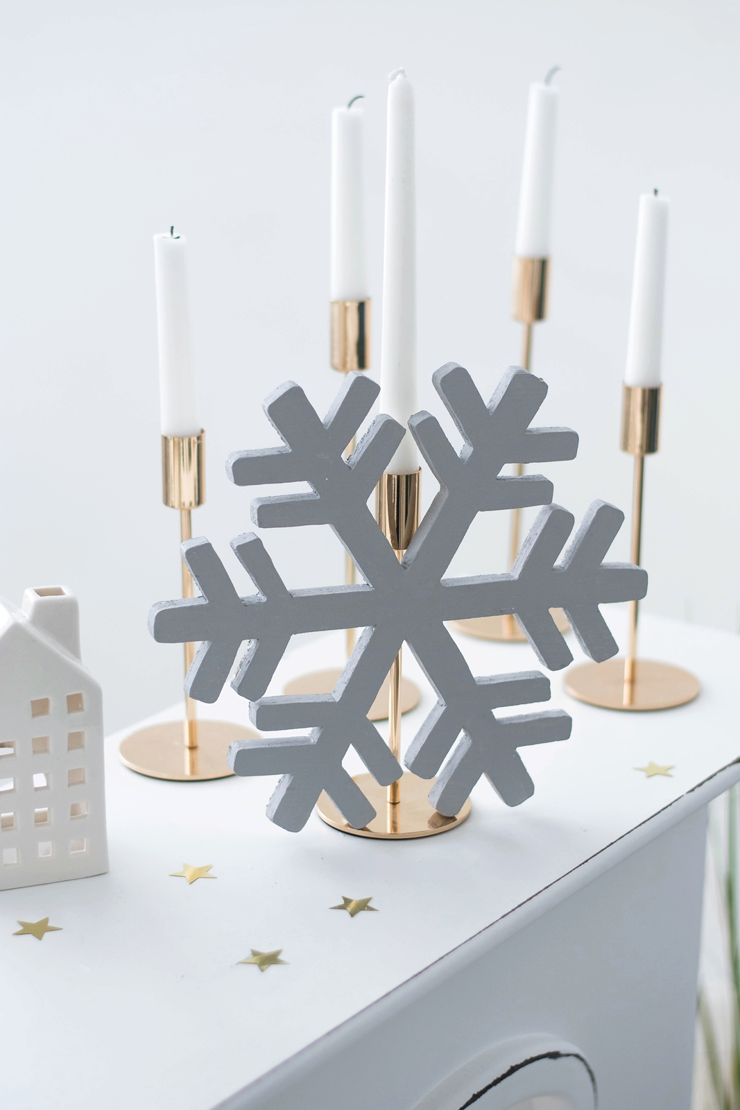 DIY Schneeflocken aus Leimholz