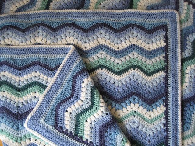 Tina's Allsorts, Rippling Clusters Crochet Blanket