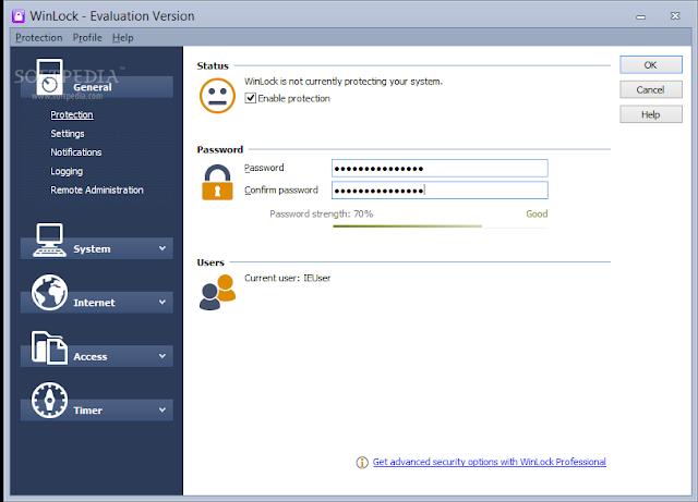 تحميل برنامج قفل البرامج والملفات بكلمة مرور للكمبيوتر WinLock 7.01