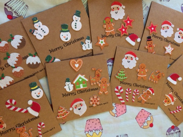 Finished Christmas cards