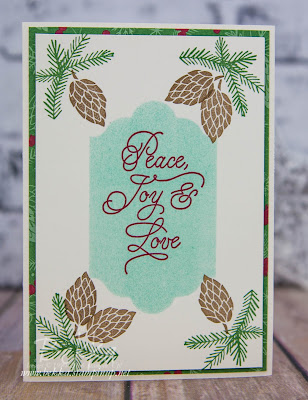 Peace This Christmas Pine Cones Card made with Stampin' Up! UK Supplies
