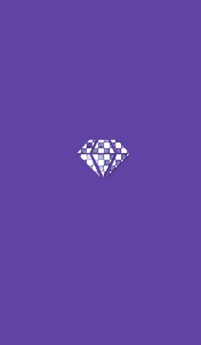 パープル染めダイヤ