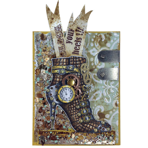 Stampendous Stamps Steampunk Shoe
