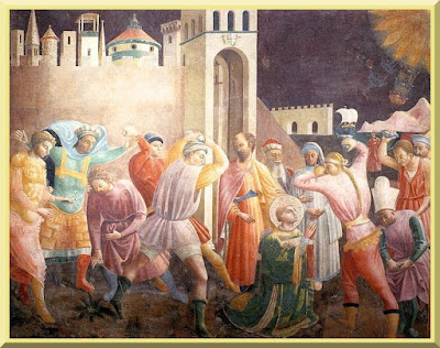 """Stoning of Saint Stephen"" -- by Paolo Uccello - PD-1923"
