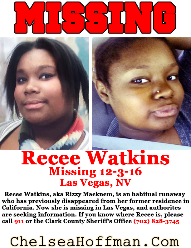 Las Vegas, NV: Recee Watkins missing since Dec. 3, 2016
