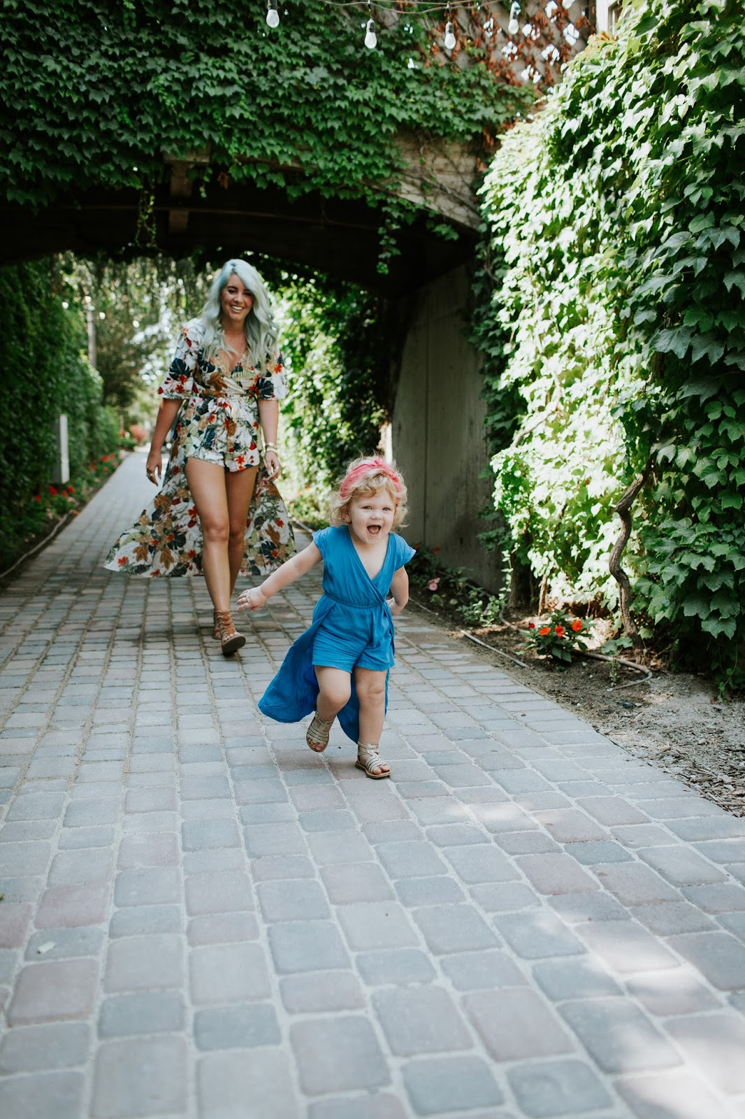Cute baby, cute little girl, Blue romper