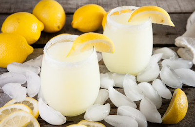 Boozy Lemonade Slushies #drink