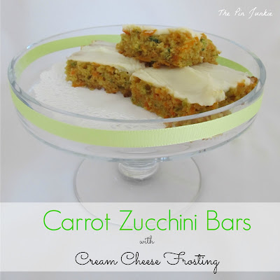 Carrot Zucchini Bars Cream Cheese Frosting