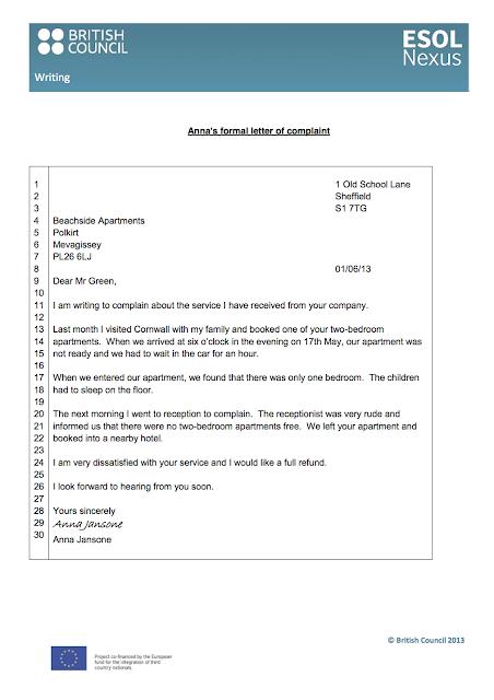 Letter writing service online formal