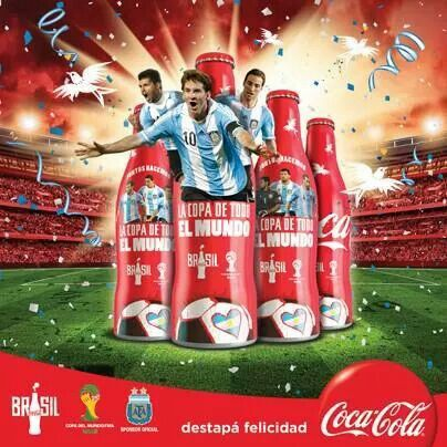 aluminum bottle collector club coca cola fifa world cup 4 aluminum bottles argentina 2014. Black Bedroom Furniture Sets. Home Design Ideas