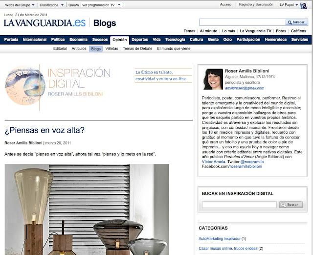 """Inspiración digital"", La Vanguardia"