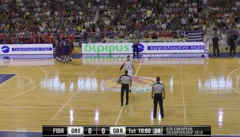 EOK - FIBA U20 | Live ΕΛΛΑΔΑ - Μεγάλη Βρετανία  (GRE-GBR 20.07.2016 18.45) Ευρωπαϊκό Πρωτάθλημα στην Χαλκίδα