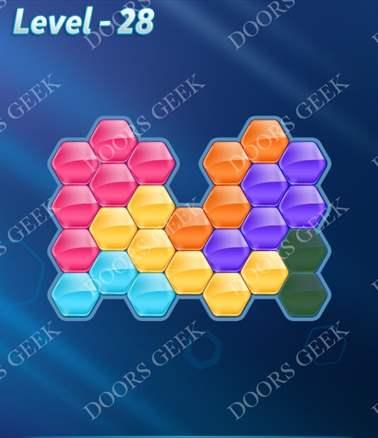 Block! Hexa Puzzle [6 Mania] Level 28 Solution, Cheats, Walkthrough for android, iphone, ipad, ipod