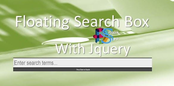 Memasang Floating Search Box With Jquery for Blogspot