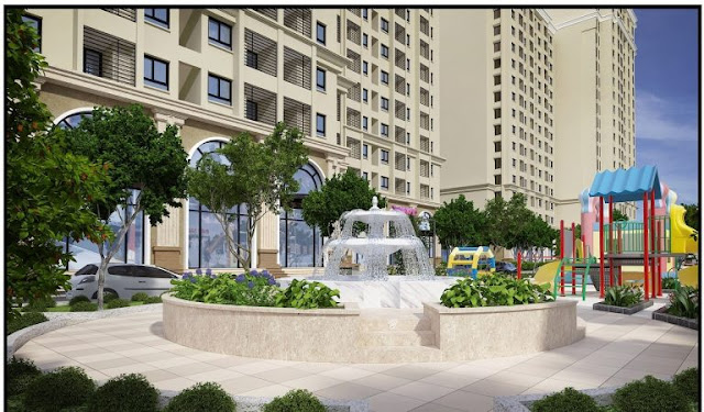 Đài phun nước trung tâm dự án Ruby City Ct3