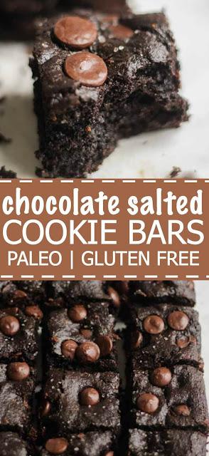 PALEO CHOCOLATE SALTED COOKIE BARS