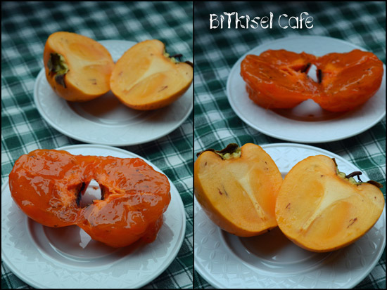 ripe persimmons vs unripe persimmons ..