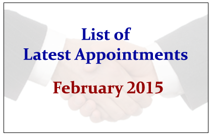List of Latest Appointments
