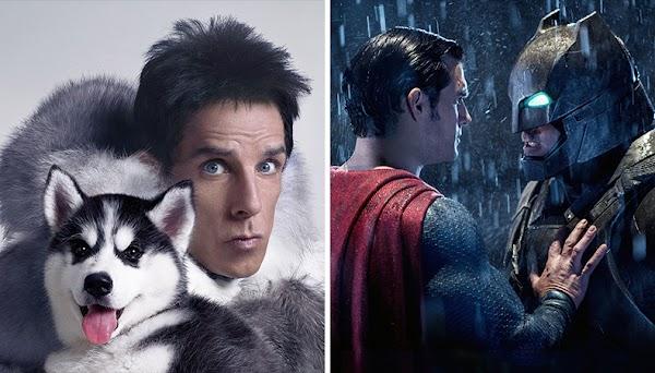 """""""Framboesa de Ouro"""": """"Zoolander 2"""" e """"Batman vs. Superman"""" lideram indicações de piores filmes!"""