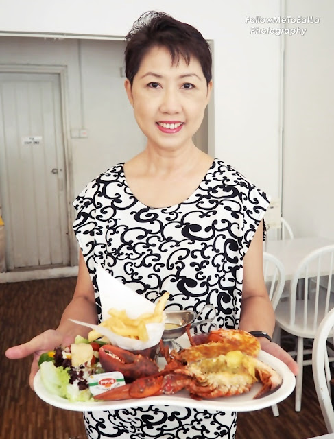 Mandatory Pose With The Impressive Serving Of Lobster