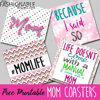 photo regarding Printable Coasters named My Modern-day Ideas: Free of charge Printable Mother Coasters