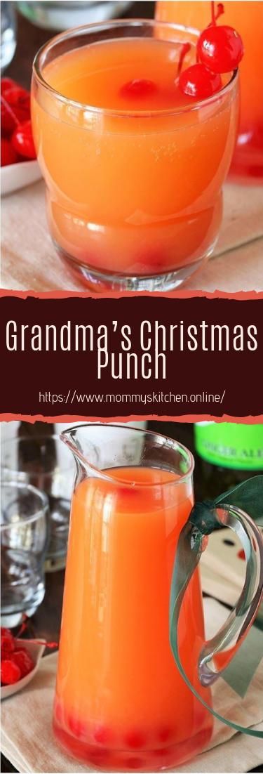 Grandma's Christmas Punch #healthydrink #easyrecipe