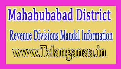 Mahabubabad District Revenue Divisions Mandal Information