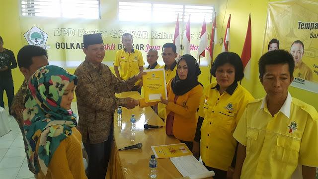 Kembalikan Formulir ke Partai Golkar, SBH Serius Maju di Pilbup OKI