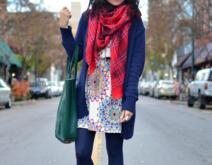 Mixed Patterns Street Style