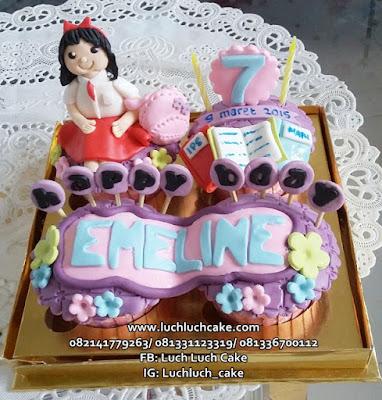 Cupcake Ulang Tahun Anak Sekolah SD / SMP / SMA