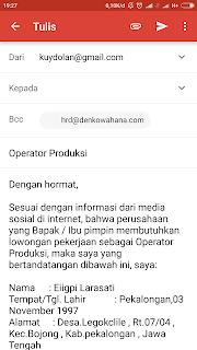 Cara daftar kerja via email