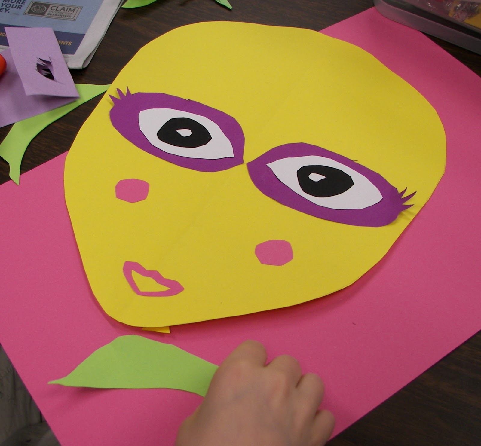 The Rolling Artroom Crazy Paper Faces 1st 3rd Grade