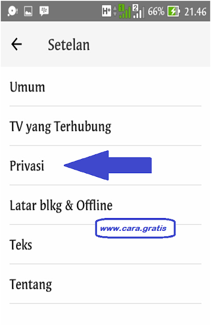Privasi Youtube