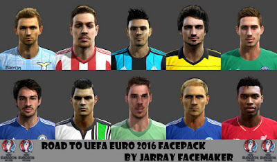 ROAD TO UEFA EURO 2016 Facepack By Jarray Facemaker