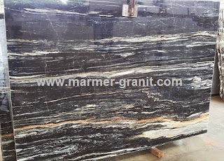 Jual Marmer Hitam, Black Picasso Marble