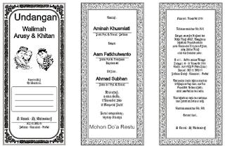 Download Koleksi Undangan Pernikahan Sederhana CDR