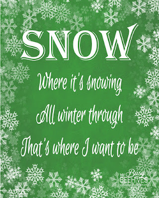 "White Christmas song ""Snow"" printable"