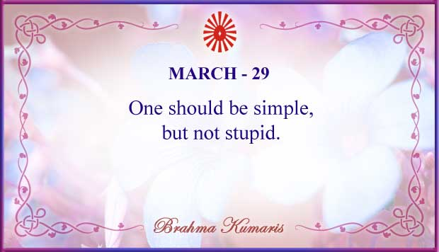 Thought For The Day March 29