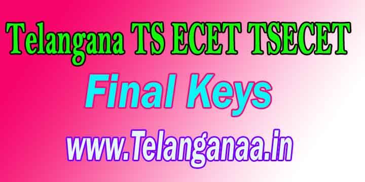 Telangana TS ECET TSECET 2018 Final Keys