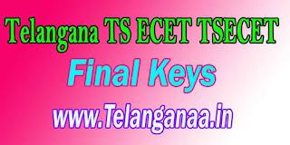 Telangana TS ECET TSECET 2017 Final Keys