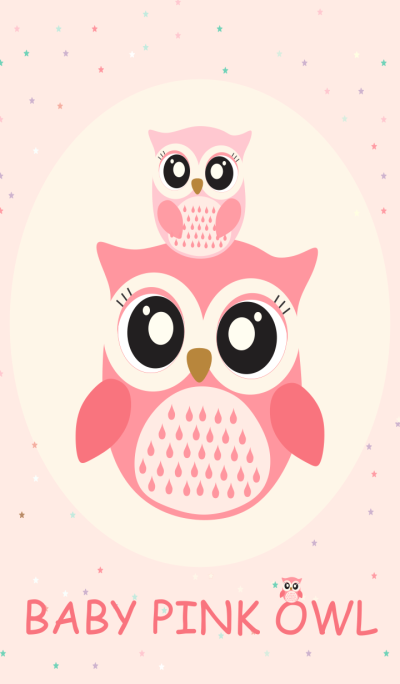 Simple Baby Pink Owl
